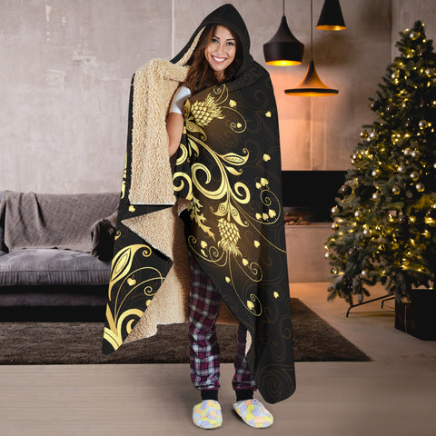 Scottish Golden Thistle Hooded Blanket A7 | Love The World