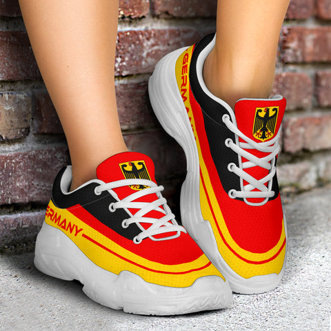 Image of Germany Chunky Sneakers, German, Germany Flag, Shoe