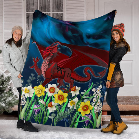 Image of Welsh Premium Blanket - Dragon Daffodil A024