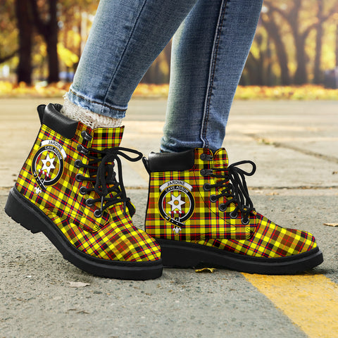 Jardine Tartan Clan Crest All-Season Boots HJ4