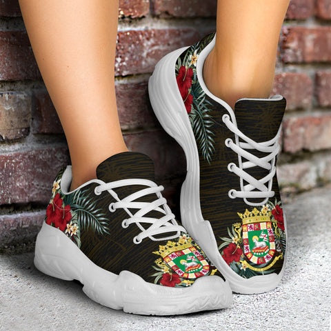 Puerto Rico Hibiscus (Men/Women) Chunky Sneakers A7