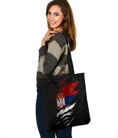 Serbia in Me Tote Bag - Special Grunge Style A7
