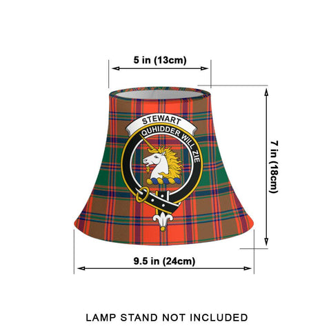 Stewart of Appin Ancient Tartan Clan Crest Bell Lamp Shade HJ4