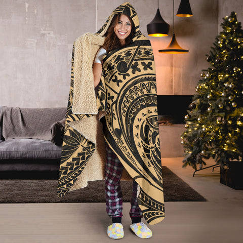 French Polynesia Hooded Blanket Tattoo K4