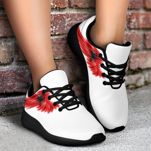 Albania Sneakers Wings Flag (Women's/Men's) A7