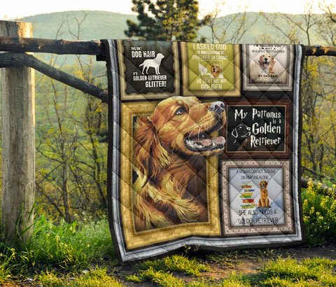 Golden Retriever Premium Quilt - BN