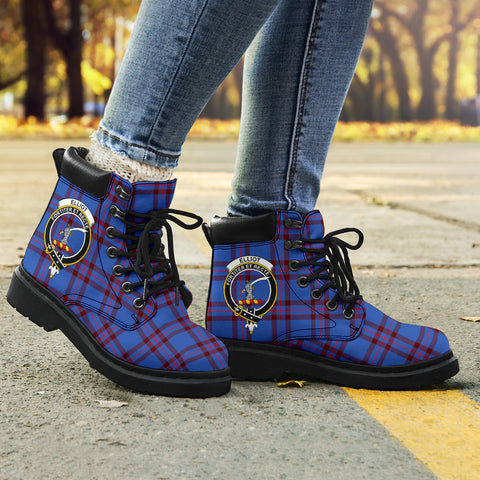 Image of Elliot Modern Tartan Clan Crest All-Season Boots HJ4