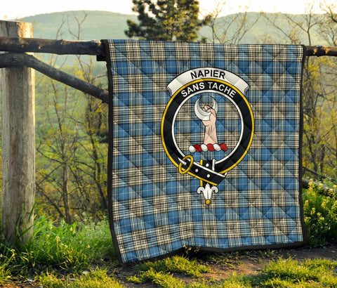 Napier Ancient Tartan Clan Badge Premium Quilt | 1sttheworld.com