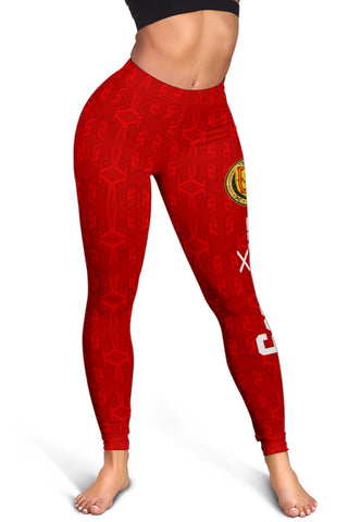 Scotland Home Women's Leggings - 1991 Style (Red) A7