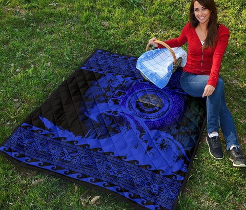 Federated States Of Micronesia Quilt Wave Blue Design K62