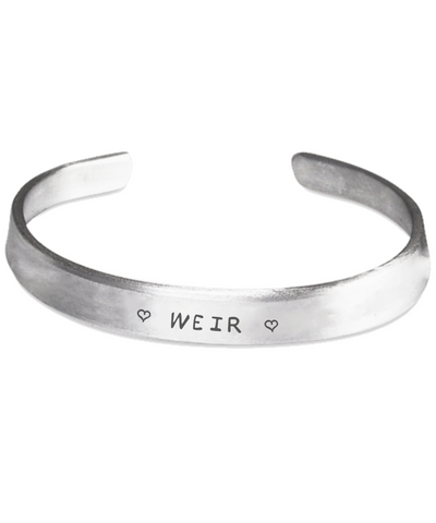 Weir Clan Name Stamped Bracelets | 1sttheworld.com