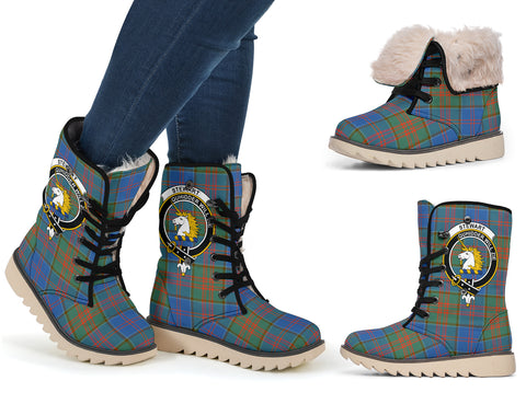 Image of Stewart of Appin Ancient Tartan Clan Crest Polar Boots Hj4