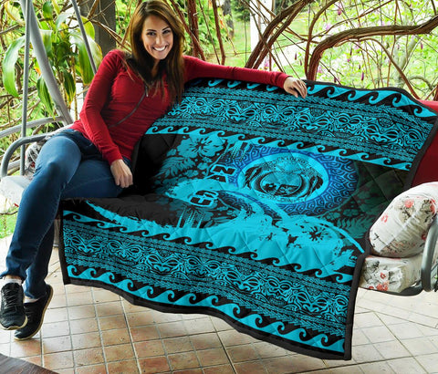 Image of Nauru Quilt Wave Navy Design K62