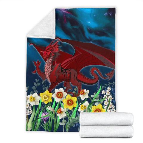Welsh Premium Blanket - Dragon Daffodil A024