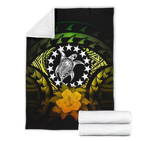 Cook Islands Premium Blanket - Reggae Hibiscus | Special Custom Design
