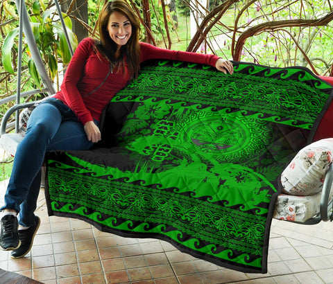 Marshall Island Quilt Wave Green Design K62