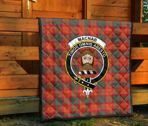 MacNab Ancient Tartan Clan Badge Premium Quilt TH8