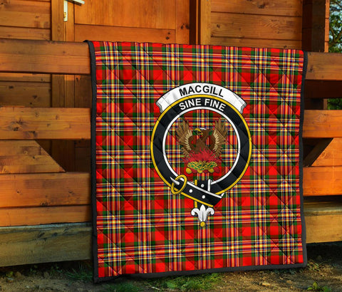 MacGill Modern Tartan Clan Badge Premium Quilt TH8