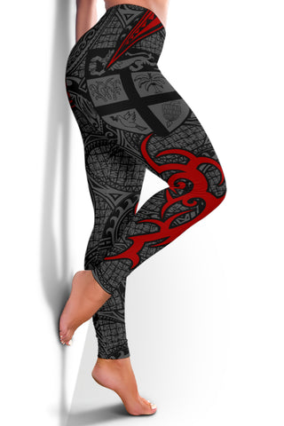 Fiji Clothing - Special Fiji Women's Leggings Red J5