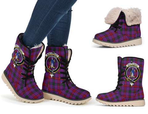Image of Montgomery Ancient Tartan Clan Crest Polar Boots Hj4