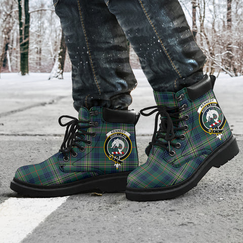 Kennedy Modern Tartan Clan Crest All-Season Boots HJ4