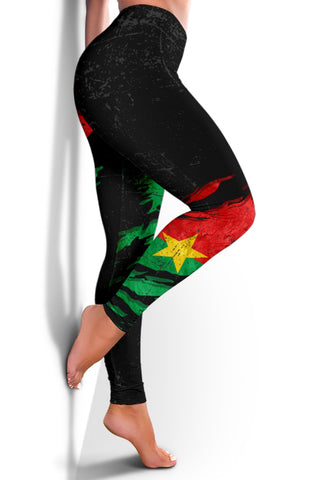 Burkina Faso In Me Women's Leggings - Special Grunge Style A31