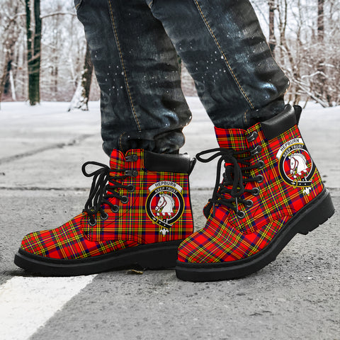 Hepburn Tartan Clan Crest All-Season Boots HJ4