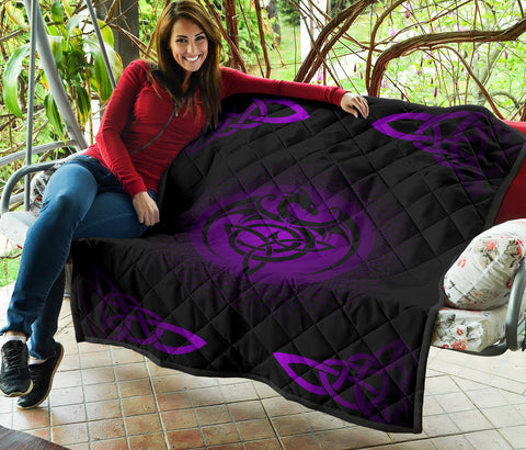 Celtic Premium Quilt  - Celtic Dragon - Purple - J0