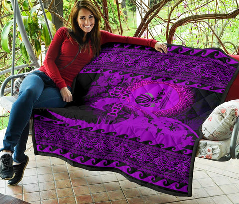 New Caledonia Quilt Wave Pureple Design K62