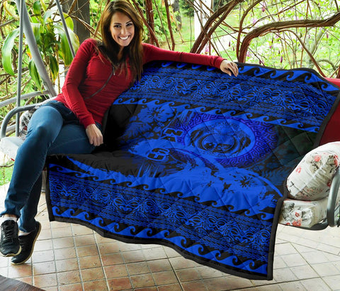 Nauru Quilt Wave Blue Design K62