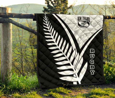 Image of New Zealand Rugby Premium Quilt - New Zealand Fern & Maori Patterns