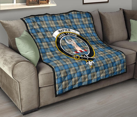 Napier Ancient Tartan Clan Badge Premium Quilt TH8