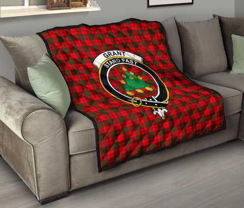 Image of Grant Modern Tartan Clan Badge Premium Quilt TH8