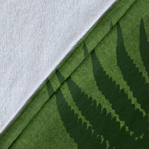 Image of Green New Zealand Fern Premium Blanket A02