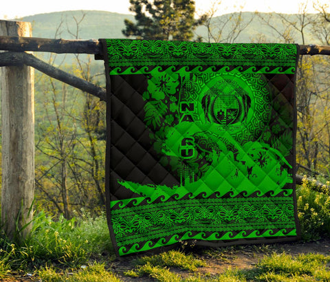 Nauru Quilt Wave Green Design K62