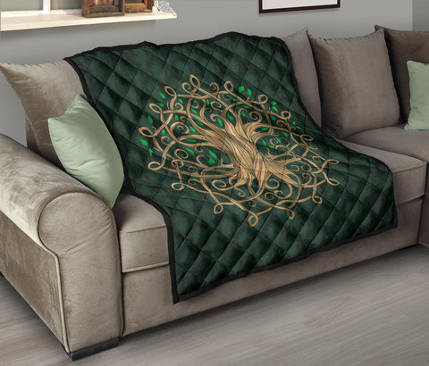 Celtic Tree Premium Quilt A6