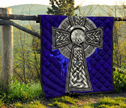 Lennox (Lennox Kincaid) Crest Scottish Celtic Cross Scotland Quilt A7