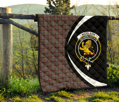 Image of Nicolson Hunting Weathered Tartan Premium Quilt Circle Style Hj4