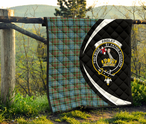 Image of Paisley District Tartan Premium Quilt Circle Style Hj4