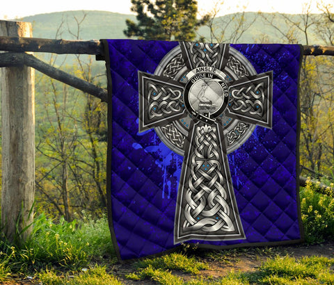 Ainslie Crest Scottish Celtic Cross Scotland Quilt A7