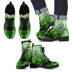 Irish Shamrock Leather Boots TH9
