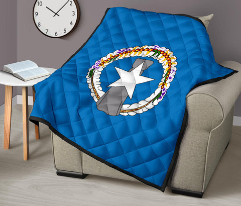 Northern Mariana Islands Flag Premium Quilt A6
