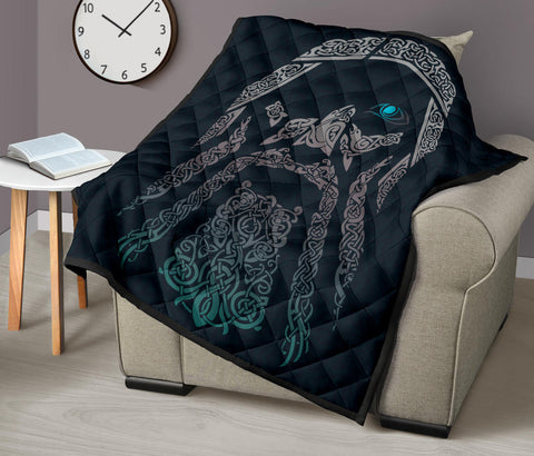 Image of Viking Odin Premium Quilt A6