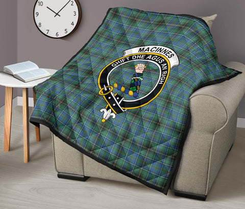 Image of MacInnes Ancient Tartan Clan Badge Premium Quilt TH8