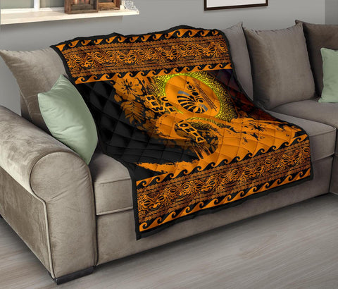Image of New Caledonia Quilt Wave Gold Design K62