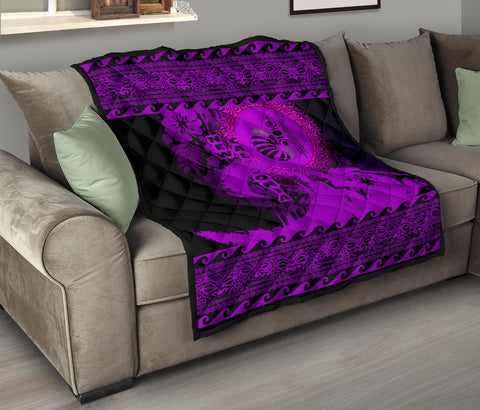 Image of New Caledonia Quilt Wave Pureple Design K62
