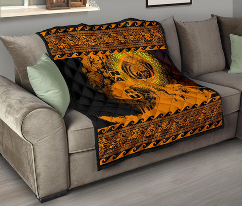 Image of Nauru Quilt Wave Gold Design K62