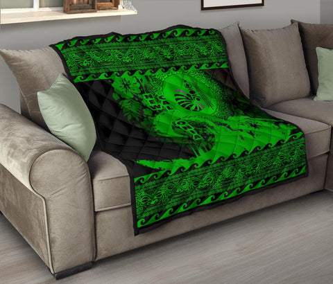 Image of New Caledonia Quilt Wave Green Design K62