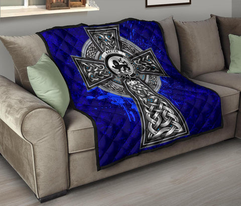 Image of Baxter Crest Scottish Celtic Cross Scotland Quilt A7