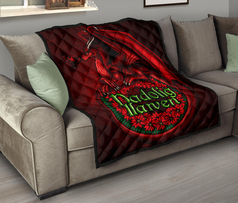 Image of Wales Premium Quilt - Christmas Dragon